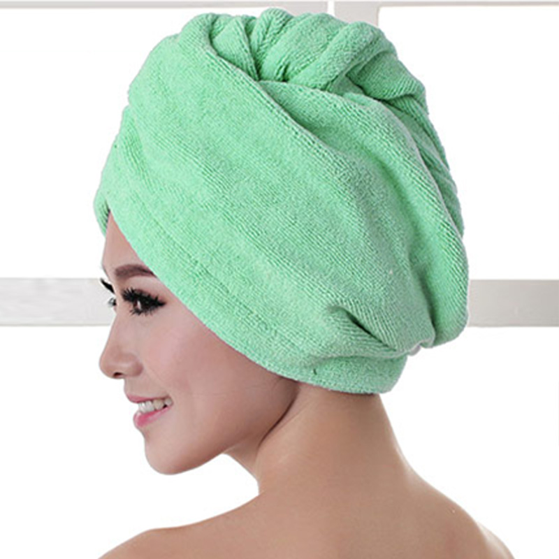 1pcs Microfibre After Shower Hair Drying Wrap Womens Girls Lady's Towel Quick Dry Hair Hat Cap Turban Head Wrap Bathing Tools 1
