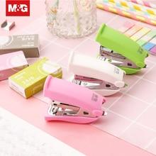 Mini Kawaii Paper Stapler Staples Set 24/6 Staple Book Stapling Machine Sewer Office Binding Supplies Color Random ABSN2623