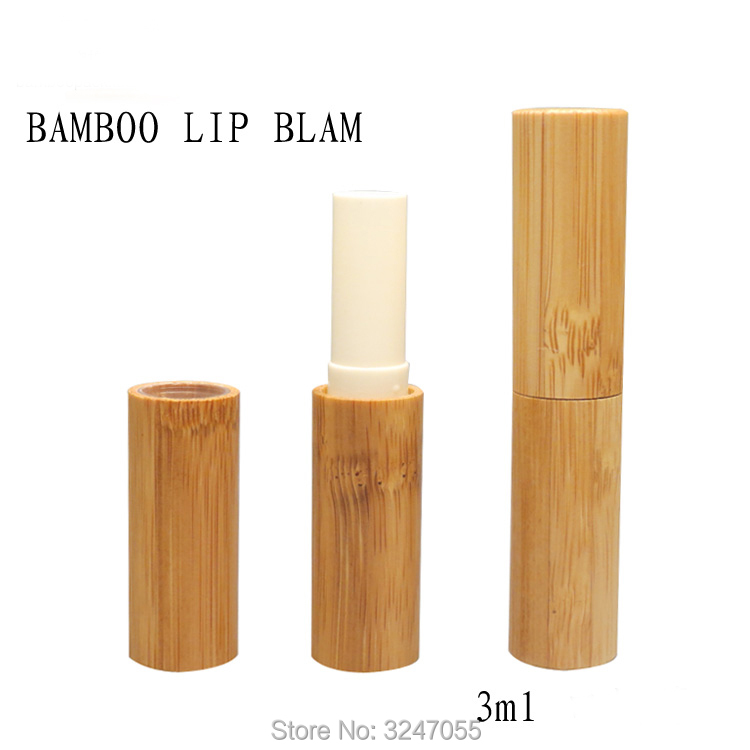 15/30pcs 3ML Slim Bamboo Wooden Lip Balm Tube,Lip Beauty Tool, Empty DIY Cosmetic Lip Rouge Filler, High-end Lipstick Container 12 1mm 50pcs new arrival empty pink lipstick tube high quality plastic diamond lipstick container cylindric lip balm container