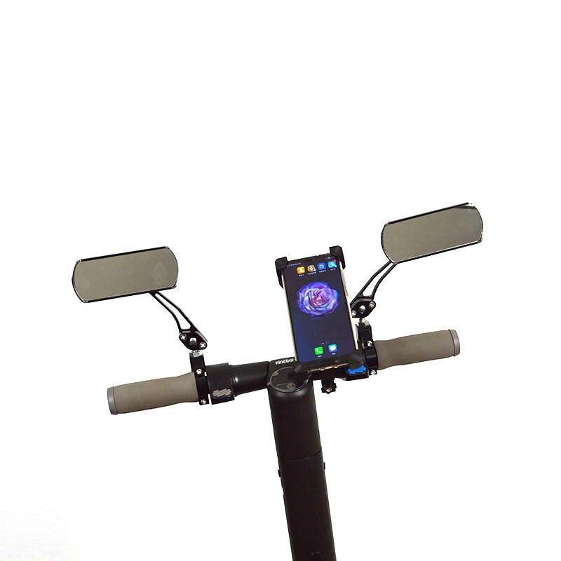 Nove Ninebot Scooter Elétrico Espelho Retrovisor e suporte móvel para Ninebot kickscooter Elétrica accessaries DIY