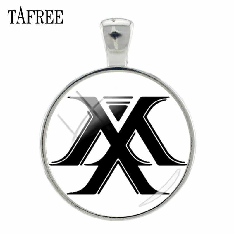 TAFREE Trendly New Kpop 歌手 GOT7 得た 7 ロゴペンダントシルバー色金属ガラス宝石写真のネックレスキーホルダーチャーム MN08