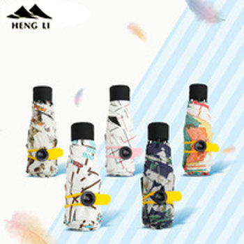 Mini Ombrello Tascabile Delle Donne Super Leggero Creativo 5 Piega Tasca Manuale di Stile Britannico Ombrello Pioggia/Sole Donne Bambini Paraguas 1