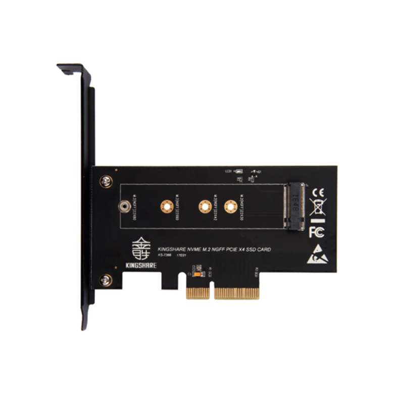 KS-NVX401 PCI-E 3.0 x4x8/16 Lane Host Adapter Converter Card M.2 NGFF M Key SSD to Nvme PCI Express Size 22*30/42/60/80/110 M.2 xp941 sm951 pm951 sm961 m 2 ngff ssd to pci e x4 lane host adapter converter card m 2 ngff to nvme with cooling fan em88