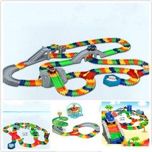Image 2 - 5.5cm רכב עבור ילד DIY אוניברסלי אביזרי קסום מסלול מצחיק גמיש מסלול זוהר מסלול זוהר בחושך צעצועים לילדים