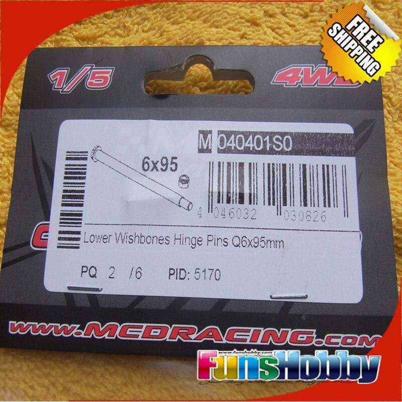 MCD Racing Lower Wishbones Hinge Pins Q6*95mm.COD.040401S0 mcd racing lower wishbones hinge pins q6 95mm cod 040401s0