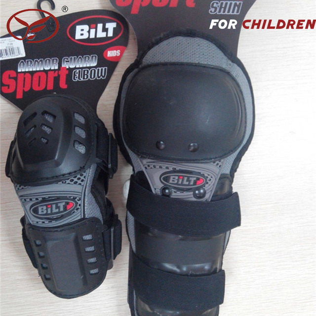 2017 Kids Child CE Motocross Mx Atv Knee Shin and Elbow Guards One Set Off Road Protection Knee Elbow Guard
