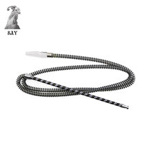 SY 1PC 1.98M Length Black Hookah Hose Metal handle and plastic tube Accessories Nargile Tobacco
