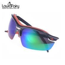 Laura Fairy Fashion Sport gafas de Sol Polarizadas Hombres 8 Grados de Arco Diseño Deportes Gafas Masculinas gafas de sol hombre