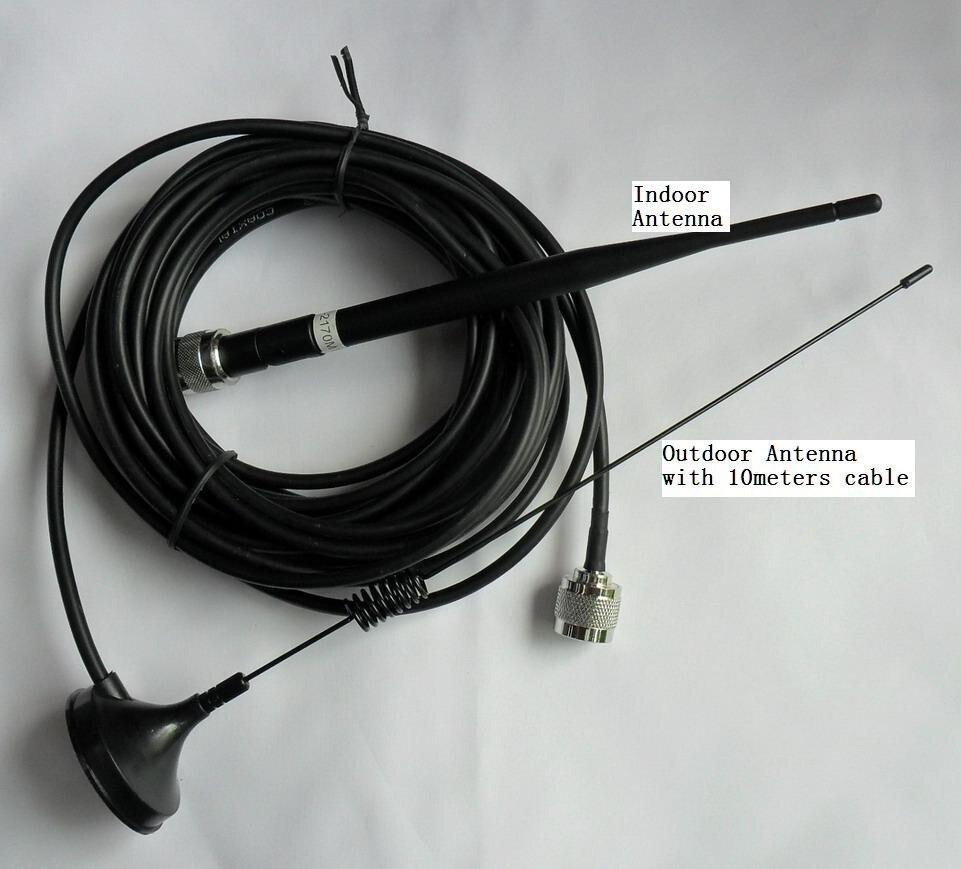 Omnidireccional antena interior + antena exterior (10 m cables) para 3G WCDMA GSM DCS CDMA piezas, teléfono celular repetidor de señal Booster