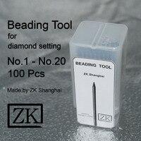 Beading Tools 100pcs Jewellery Tools ZK Shanghai Bead Grain Tools Beader Goldsmith