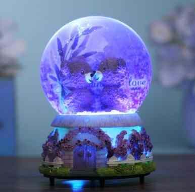 SUIRONG-719+++Light snow crystal ball music box music box to send his girlfriend a birthday gift for children bestie