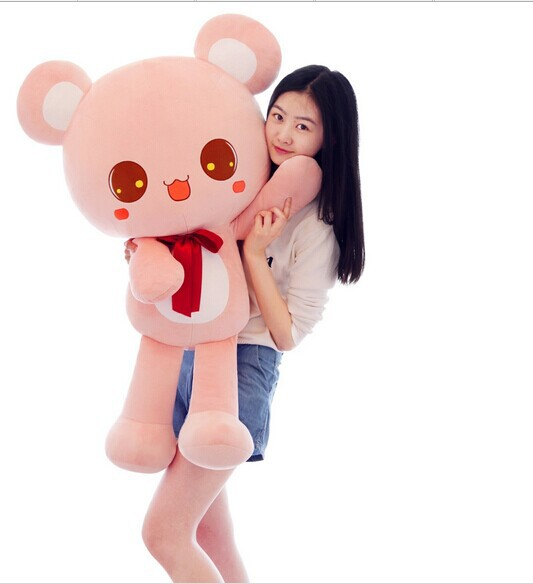 large 90cm lovely missubear bear plush toy bear doll , pink or brown colour choices , birthday gift w4759 stuffed animal 120 cm cute love rabbit plush toy pink or purple floral love rabbit soft doll gift w2226