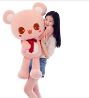 large 90cm lovely missubear bear plush toy bear doll , pink or brown colour choices , birthday gift w4759