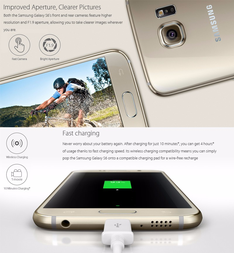 Original Samsung Galaxy S6 With 16.0MP And 3GB RAM Android Unlocked Cellphone 2