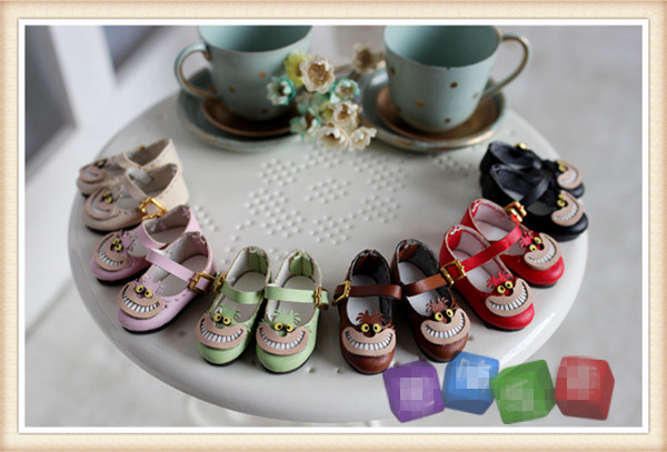 Free shipping High quality Handmade Cheshire Cat Doll shoes,doll accessories for Blythe 1/8BJD /OB/AZ Lati gift toys 4pcs simulation of food dollhouse for bjd doll for blythe new fashion doll accessories food for barbie doll free shipping