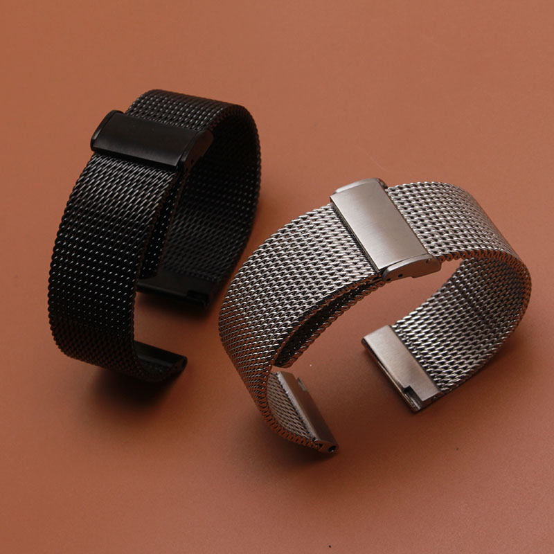 18mm 20mm 21mm 22mm 24mm silver Black Mesh High Quality Watchband fit smart watches men Gear s2 s3 watch accessories new fashion смарт часы samsung gear s2 black