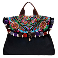Original MIYA 2017 national trend women's handbag embroidered canvas bag Ladies shoulder bag messenger bag Hot Sale