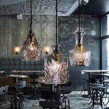 Старинные Стеклянная Бутылка Подвесной светильник Ресторан Бар Подвесной светильник Европейский Стиль Светильник Home Decor Бесплатная доставка PV014