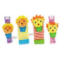 2 teile/los Baby Handgelenk Glocke Fuß Socken Gefüllte Nette Plüsch Tier Spielzeug Handbell Weichen Beschwichtigen Spielzeug Entwicklungs Kinder Infant Geschenke