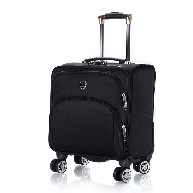 Fashion 18 inch Oxford Commercial Trolley luggage High Quality Travel Suitcase Universal wheel Aluminium alloy rod Trolley