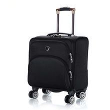Fashion 18 inch Oxford Commercial Trolley luggage High Quality Travel Suitcase Universal wheel Aluminium alloy rod Trolley(China)