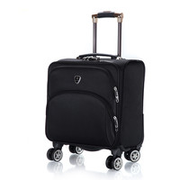 Fashion 18 Inch Oxford Commercial Trolley Luggage High Quality Travel Suitcase Universal Wheel Aluminium Alloy Rod