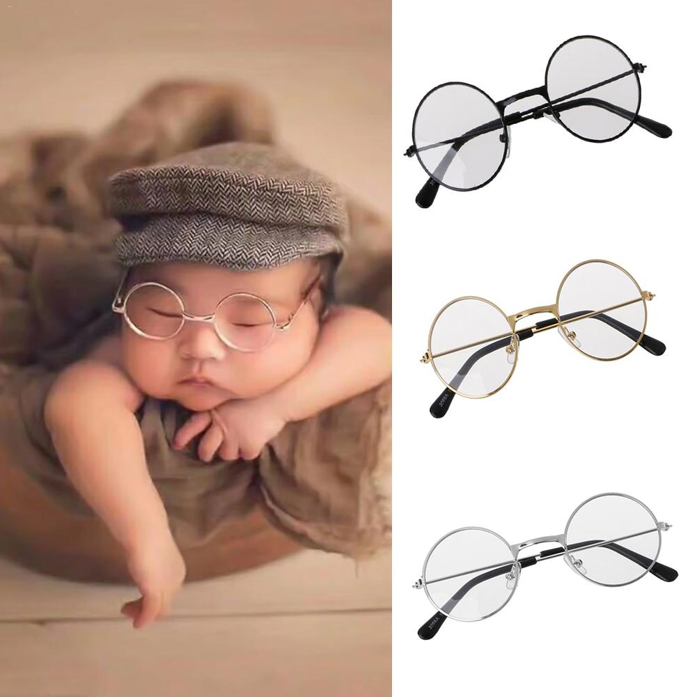 Newborn Infants bebe Photography Props Flat Glasses Baby Studio Shooting Photo Prop photosession  Accessories (China)