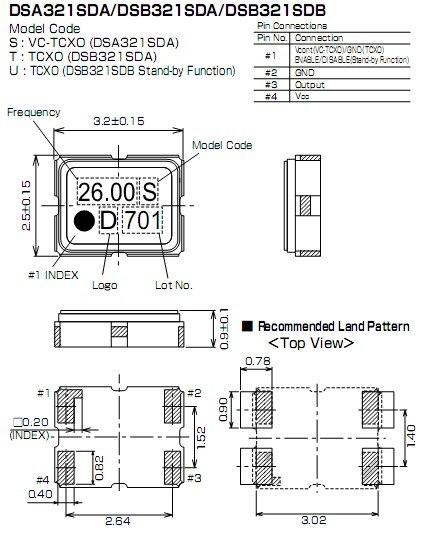 Осциллятор 10 . TCXO 3225 14.7456