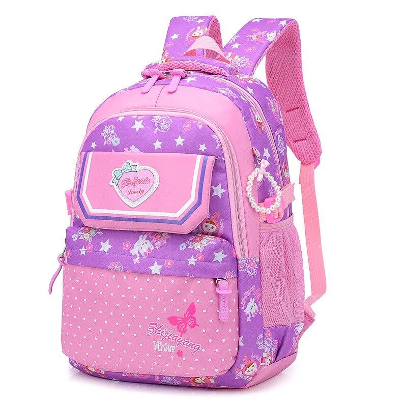 Children School Bags Girls Kids princess Backpacks schoolbags printing Primary School backpack Kids Satchel Mochila Infantil Zip