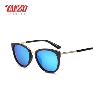 Image 4 - 20/20 Polarized sunglasses women Retro Style Metal Frame Sun Glasses Famous Lady Brand Designer Oculos Feminino 7051