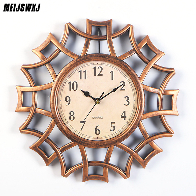 10 Inches Nordic Style Abstract Wall Clock Vintage Numeral Geometric Wall Clock Mordern Home Design For Home Wall Clock Decor