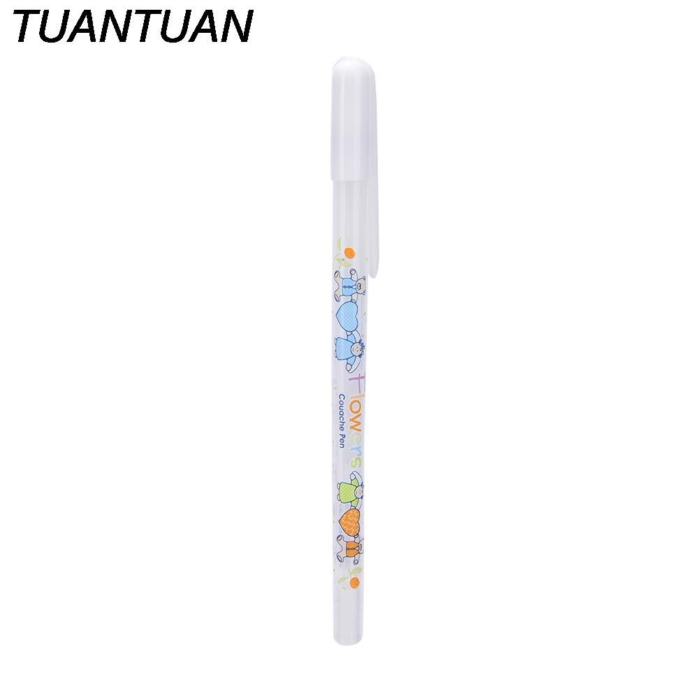 TUANTUAN Best Selling Simple Style 0.8MM White Ink Color Photo Album Gel Pen Stationery Office Learning Writing Supply Cute Pen image