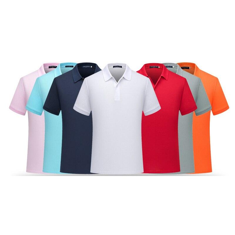 16 color verano camisa de Polo de los hombres Casual Sólida Camisa Pólo de los hombres manga corta hombre de alta calidad camisas