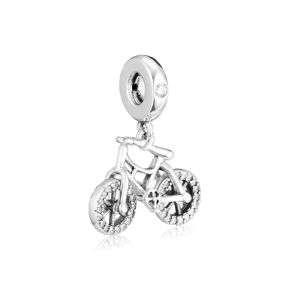 CKK Brilliant Bicycle Bead Charm Sterling Silver 925 Charms Jewelry Original Beads For Bracelet Jewelry Making BijouxCKK Brilliant Bicycle Bead Charm Sterling Silver 925 Charms Jewelry Original Beads For Bracelet Jewelry Making Bijoux