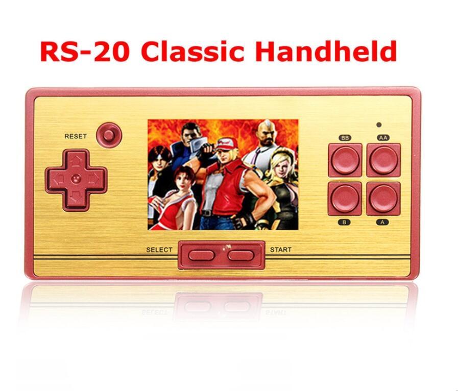 Spiel Karte Mp4 Player Offen Rs-20 Tragbare Kind Spiel Spielerunterstützung Tv-out 2,6 Zoll Farbe Screen Handheld Videospiel-konsole Mit Av-kabel