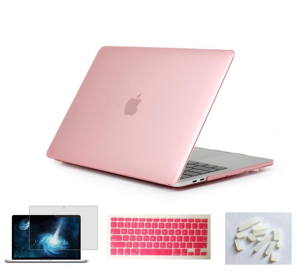 Матовый чехол для ноутбука Apple Macbook Pro retina Air 11 12 13 15 дюймов для Macbook Air13 A1932, Pro 13 15 A1989 A1990 - Цвет: Pink