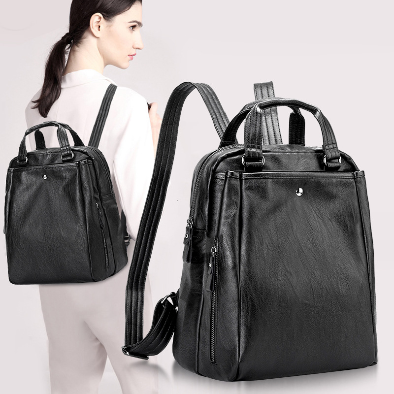 Fashion Classic luxury design Famous <font><b>Genuine</b></font> <font><b>leather</b></font> <font><b>Backpack</b></font> Children <font><b>Backpacks</b></font> for Student <font><b>Backpack</b></font> School Bags Casual <font><b>Unisex</b></font> image