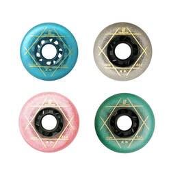 8 шт./компл. 88A синий/серебристый цвет скейт колеса 83A розовый/зеленый цвет роликовые коньки колеса