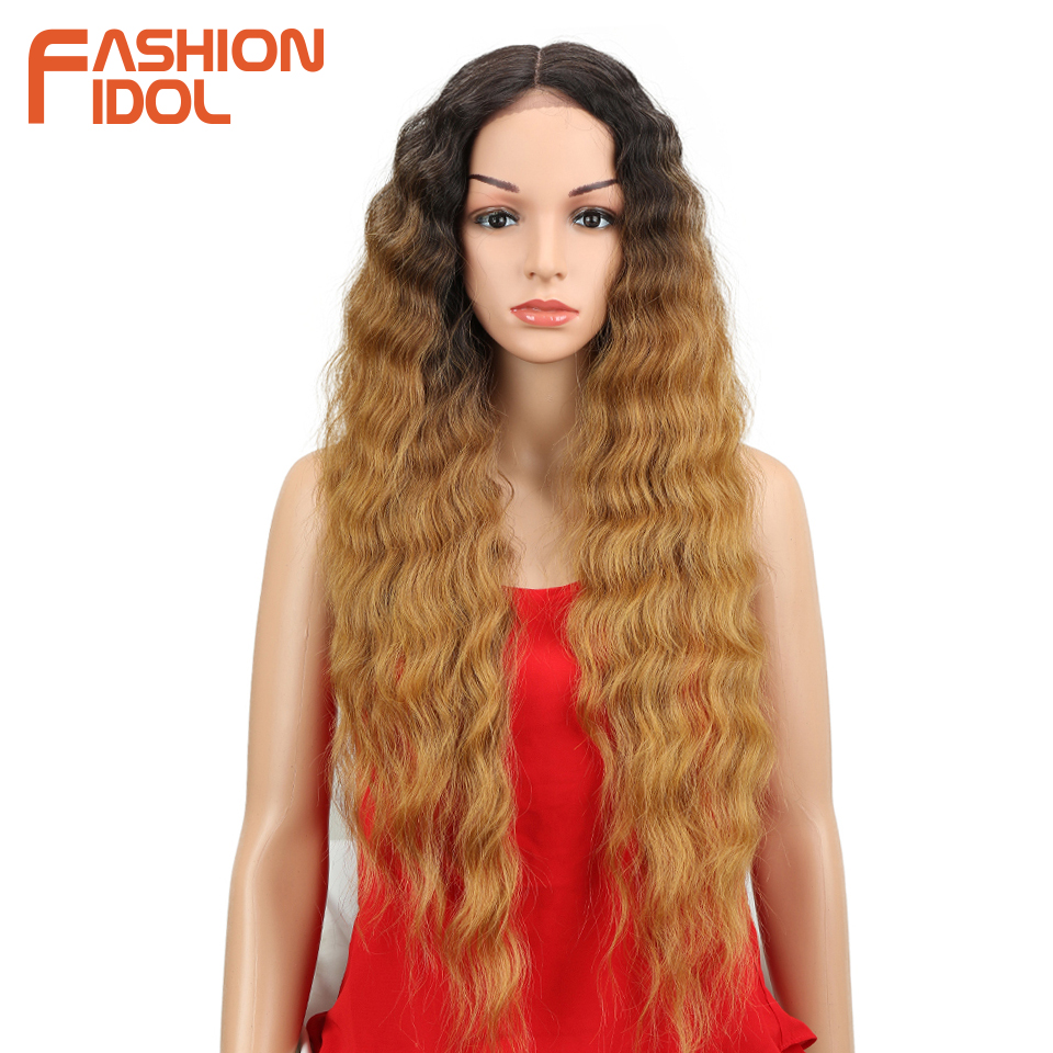 Hot Sale Fashion Idol Lace Front Wig Long Blonde Ombre Wig 30 Deep