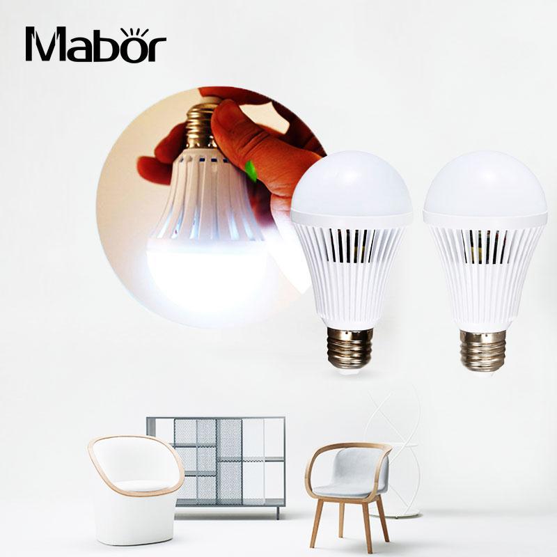 Mabor Emergency Light 9W LED E27 White Bright Intelligent Emergency Lamp Light Bulb Rechargeable Lamps