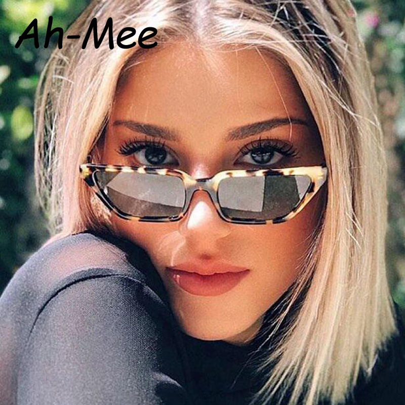 Retro Cat Eye Sunglasses Women Brand Designer Vintage Rectangle Sun Glasses Female Cateye Flat Top Eyewear Shades UV400