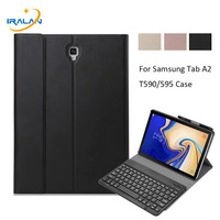 Tablet Case For Samsung Galaxy Tab A 10.5 2018 SM T590 T595 T597 Detachable Bluetooth Keyboard Cover With Pencil Holder+Film+Pen