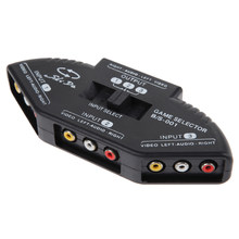 3-Way Audio Video AV RCA HDMI Selector Hitam Switch Selector Kotak Splitter dengan/3RCA Kabel Komponen Switch(China)