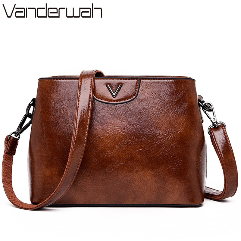 Crossbody Bags for Women 2019 Luxury Handbags Solid Leather Women Bags Designer Brand Famous Female Vintage Messenger Bags Totes