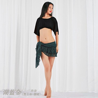 Wholesale New Belly Dancing Tops+Hip Scarf Costume Sets simple Stage Practice Training Suit dancing Suits 2 Pieces