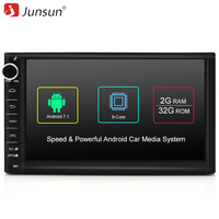 Junsun 7 R177 Car DVD 2 Din Android Car Radio Multimedia Player 1024 600 Universal GPS