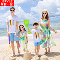 Matching Mother Daughter Chiffon Maxi Dresses Matching Family Clothes Mother Daughter Dress Father Son Cotton T-shirt And Shorts