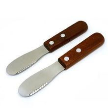 kitchen accessories Mini Sandwich Spreader Butter Cheese Slicer Knife Stainless Steel Spatula Kitchen Tool With Wooden Handle