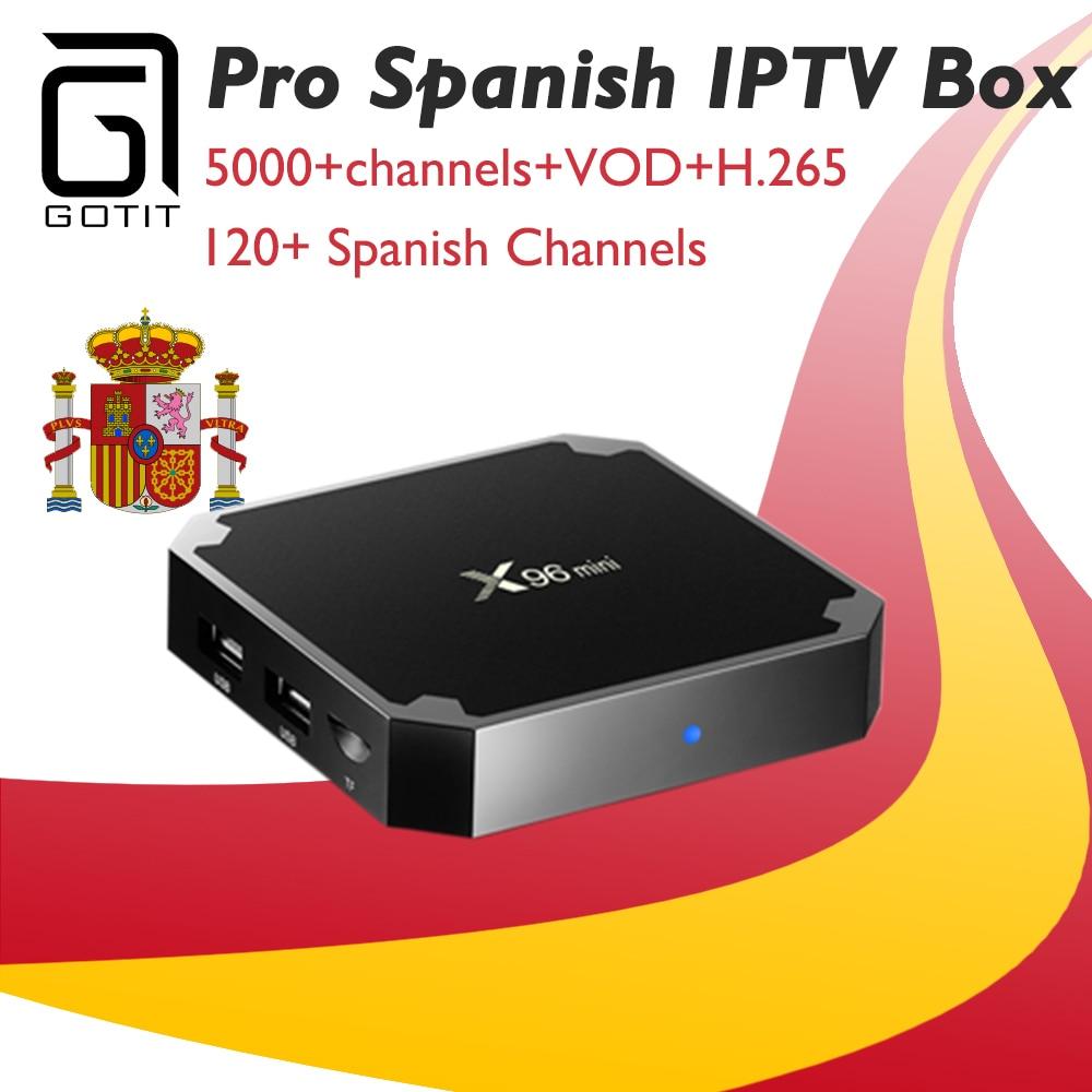 GOTiT Spanish IPTV X96 MINI 4K Android UHD Smart TV Box +5000+Live World Pro IPTV Nordic UK Israel USA Canada Set Top Box часы mini world mn1012a