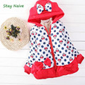 Stay NaiveRetail 2016 New Lovely Outerwear Girls Minnie Jacket Baby  Cotton Winter Thick Warm Coat Children